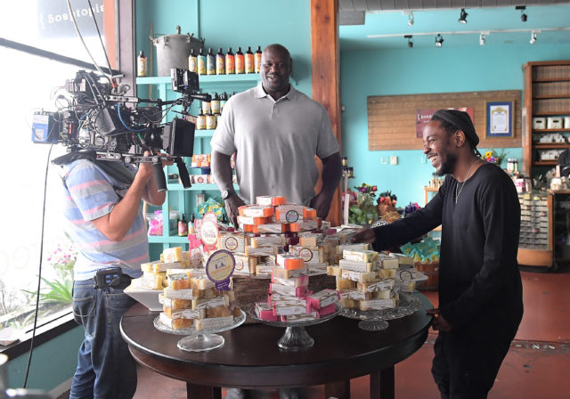 Behind The Scenes: Shaquille O'Neal And Kendrick Lamar Shop Small With American Express In Los Angeles