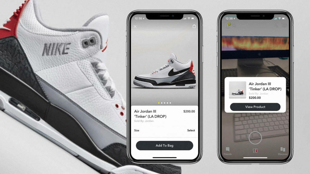 air jordand purchase demonstrated on snapchat interface