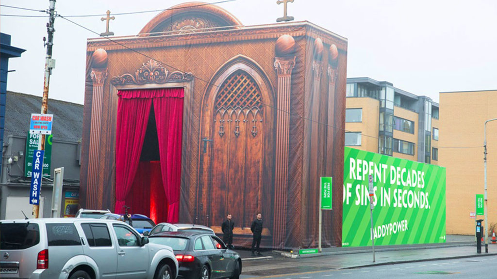 PaddyPower Drive Through Confessional